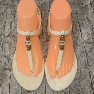 Coach jelly sandals 8